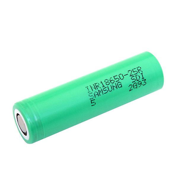 Аккумулятор 25R 18650 (зеленый) Литиевый аккумулятор Samsung 25R 18650 20А 2500 мАч