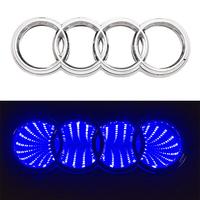 3D логотип Audi (Ауди) с подсветкой 180х60мм синий