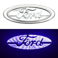 3D логотип Ford (Форд) 145х58мм с синей подсветкой
