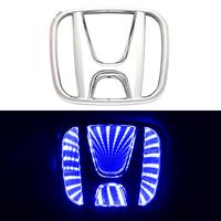 3D логотип Honda (Хонда) 98х80мм с синей подсветкой