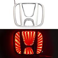 3D логотип Honda (Хонда) 96х80мм с красной подсветкой