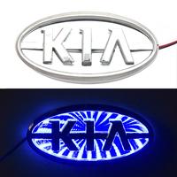 3D логотип KIA (КИА) с подсветкой 119х62мм синий
