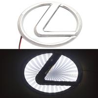 3D логотип Lexus (Лексус) с подсветкой 115х75мм белый