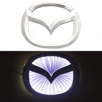 3D логотип Mazda (Мазда) 120х95мм с белой подсветкой
