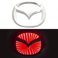 3D логотип Mazda (Мазда) 120х95мм с красной подсветкой