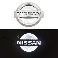 3D логотип Nissan (Ниссан) 117х100мм с белой подсветкой