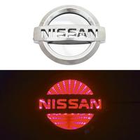 3D логотип Nissan (Ниссан) 117х100мм с красной подсветкой
