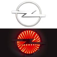 3D логотип Opel (Опель) 133х101мм с красной подсветкой