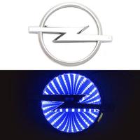 3D логотип Opel (Опель) 130х97мм с синей подсветкой