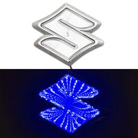 3D логотип Suzuki (Сузуки) с подсветкой 105х95мм синий