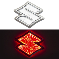 3D логотип Suzuki (Сузуки) с подсветкой 105х95мм красный