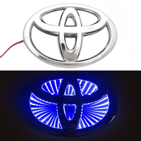 3D логотип Toyota (Тойота) 160х110мм с синей подсветкой
