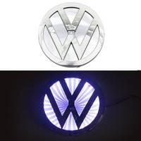 3D логотип Volkswagen (Фольксваген) 110х110мм с белой подсветкой