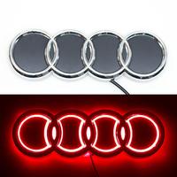 5D логотип Audi (Ауди) 180х60мм Красный