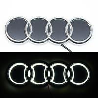 5D логотип Audi (Ауди) 180х60мм Белый