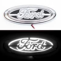 5D логотип Ford (Форд) белый 145х55мм