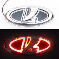 5D логотип Lada (Лада) красный 125х55mm