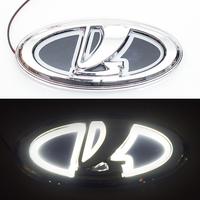 5D логотип Lada (Лада) белый 125х55mm
