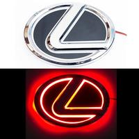 5D логотип Lexus (Лексус) красный 125х90mm