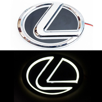 5D логотип Lexus (Лексус) белый 125х90mm