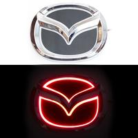 5D логотип Mazda (Мазда) красный 125х100mm
