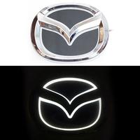 5D логотип Mazda (Мазда) белый 125х100mm