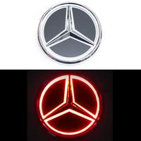 5D логотип Mercedes (Мерседес) красный 95mm