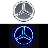 5D логотип Mercedes (Мерседес) синий 95mm