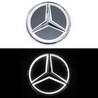 5D логотип Mercedes (Мерседес) белый 95mm