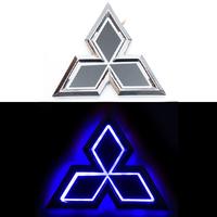 5D логотип Mitsubishi (Мицубиси) синий