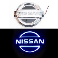 5D логотип Nissan (Нисан) синий 105х90mm