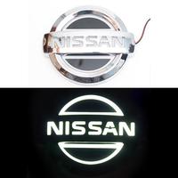 5D логотип Nissan (Нисан) белый 105х90mm
