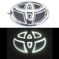 5D логотип Toyota (Тойота) белый 120х80mm