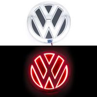 5D логотип Volkswagen (Фольксваген) красный 110мм