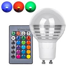 RGB LED лампа с дистанционным пультом управления 220В GU10 рассеивающая полусфера