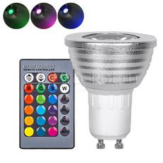 Светодиодная RGB лампа с пультом 220В GU10 направленного свечения spot