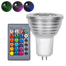 Светодиодная RGB лампа с пультом 220В GU5.3 направленного свечения spot