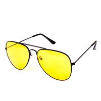 Желтые водительские очки антифары Авиатор