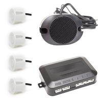 Парктроник звуковой без дисплея 4 датчика белые ParkAWay E-4W-ZV