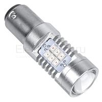 Светодиодная лампа Samsung чипы 21 SMD 2835 1157 - PR21/5W - BAY15D красная