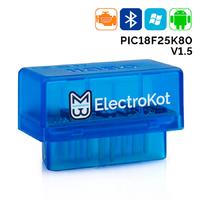 Адаптер ELM327 bluetooth mini 1.5 чип PIC18F25K80