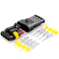 Разъем автомобильный ElectroKot герметичный штекер-гнездо DJ7041-1.5-11/21 4 контакта