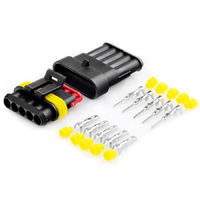 Разъем автомобильный ElectroKot герметичный штекер-гнездо DJ7051-1.5-11/21 5 контактов