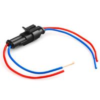 Разъем автомобильный ElectroKot герметичный штекер-гнездо DJ7021-1.5-11/21 с проводами 2 контакта