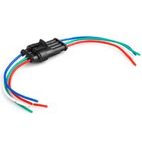 Разъем автомобильный ElectroKot герметичный штекер-гнездо DJ7041-1.5-11/21 с проводами 4 контакта