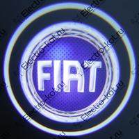 Проектор логотипа Fiat (Фиат синий) Premium 38x16mm 7W