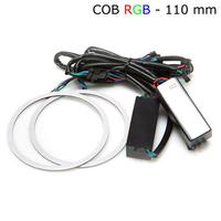 Многоцветные RGB COB ангельские глазки 110 мм - комплект 2 шт