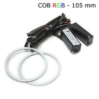 Многоцветные RGB COB ангельские глазки 105 мм - комплект 2 шт