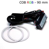 Многоцветные RGB COB ангельские глазки 90 мм - комплект 2 шт