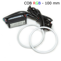 Многоцветные RGB COB ангельские глазки 100 мм - комплект 2 шт
